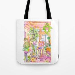 Plants & Cats Tote Bag
