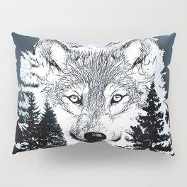 Forest Wolf Art Pillow Sham