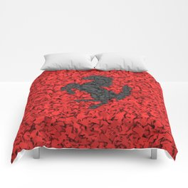 Red Homage to Ferrari Comforters