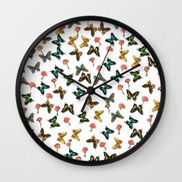 Schmetterlinge Wall Clock
