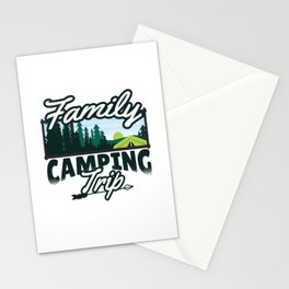Family Camping Trip gift Stationery Cards