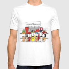 The Unusual Suspects White MEDIUM Mens Fitted Tee