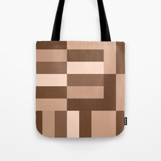 Shades of Brown Blocks Tote Bag