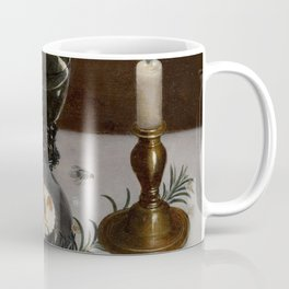 Clara Peeters - Still life with dainties, rosemary, wine, jewels and a burning candle Coffee Mug