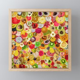 Fruit Madness (All The Fruits) Framed Mini Art Print
