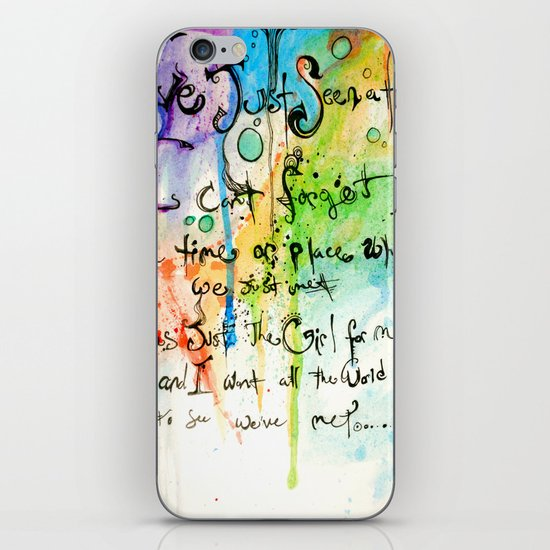 Im not sure what i saw.. iPhone & iPod Skin