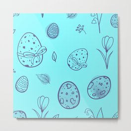Rabbit gifts | Easter gifts | Easter decorations | Easter Bunny | Spring decor Metal Print