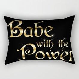 Labyrinth Babe With The Power (black bg) Rectangular Pillow