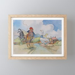 Cock and Goose Framed Mini Art Print