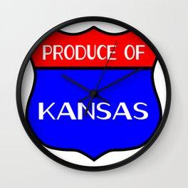 Produce Of Kansas Wall Clock