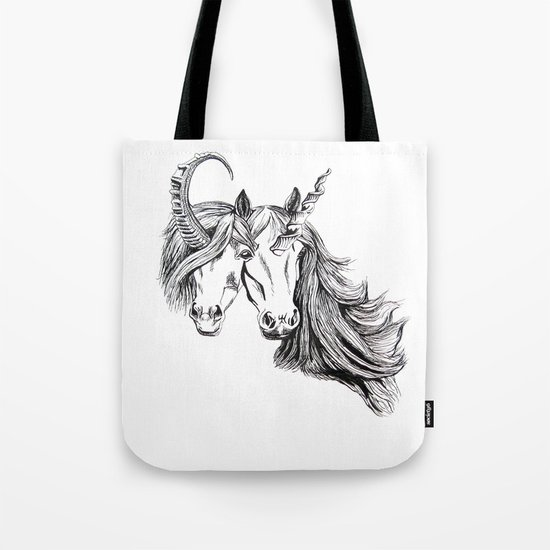 Conjoined Unicorns Tote Bag