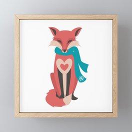 Winter Fox Framed Mini Art Print