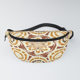 Brown and tan abstract Fanny Pack