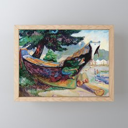 Emily Carr, War Canoe, Alert Bay Framed Mini Art Print