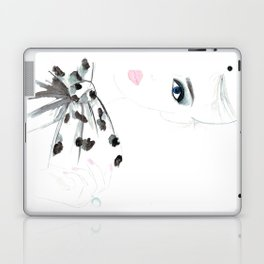 Watercolour Fashion Illustration Titled Bow Top Laptop & iPad Skin