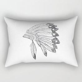 Native american indian headdress illustration Rectangular Pillow