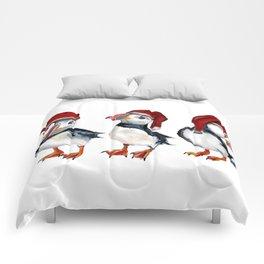 Chrismas Puffins Comforters