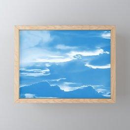 cloudy burning sky reacwb Framed Mini Art Print