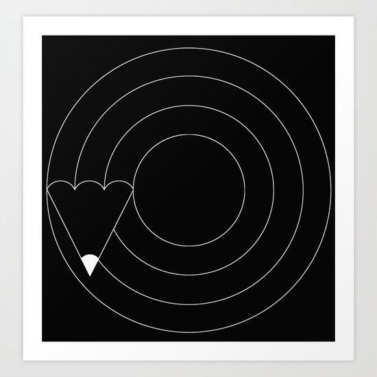 Drawing circles Art Print