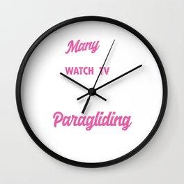 Many Grandma's Paragliding Paragliders Skydiving Parachuting Extreme Sports Gift Wall Clock