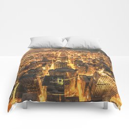 chicago aerial view Comforters