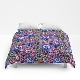 The Devil's Flower Garden - Demonic Eyeball Flowers Comforters