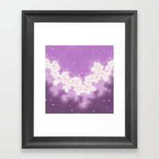 Lavender Chevron Queer Pride Galaxy Framed Art Print