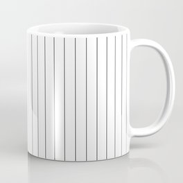 White Black Pinstripes Minimalist Coffee Mug