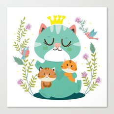 Queen cat Canvas Print