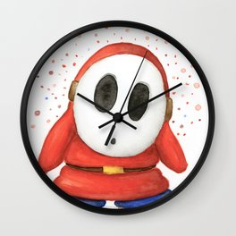 Confused Shy Guy Wall Clock