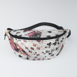 Abstract  Playing Cards Digital art Fanny Pack
