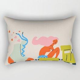 Roller train Rectangular Pillow
