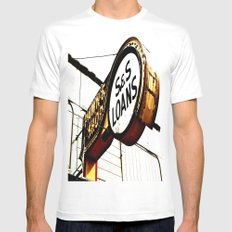 S&S Loans Mens Fitted Tee MEDIUM White