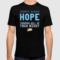 There's Always Hope... Black Mens Fitted Tee MEDIUM