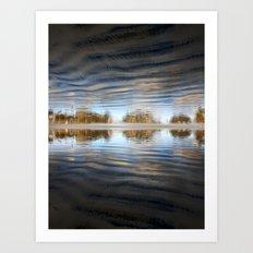 upside down world Art Print