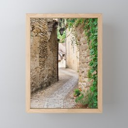 Through the Village Framed Mini Art Print