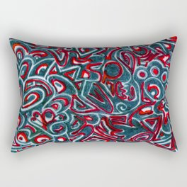 Jack Teal/Red Rectangular Pillow