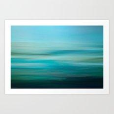 Greenish Blue Sea Art Print