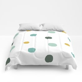 colorful hand drawn circle pattern background illustration Comforters