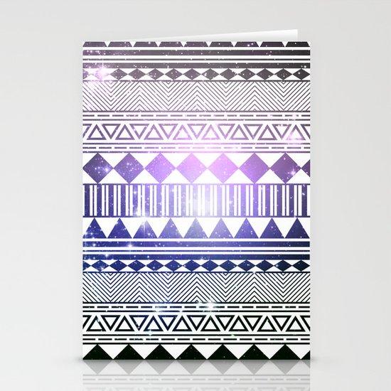 galaxy navajo tribal pattern Stationery Cards