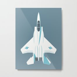 F15 Eagle Supersonic Fighter Jet Aircraft - Slate Metal Print