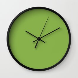 Green Apple - Solid Color Collection Wall Clock