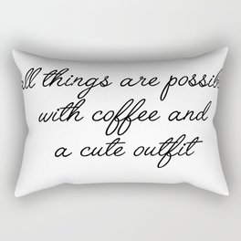 all things are possible Rectangular Pillow