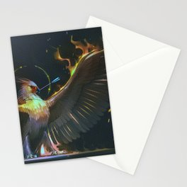 Fire Magical Animals Bird Stationery Cards