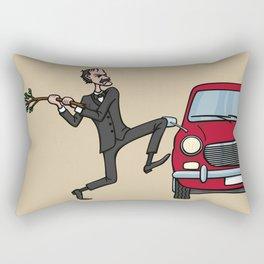 Basil's Fury Rectangular Pillow