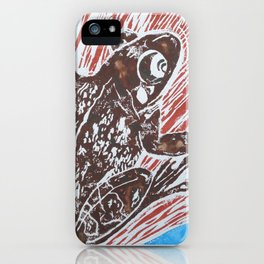 Woodsy frog iPhone Case