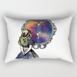 Follow The White Rabbit - Alice In Wonderland Rectangular Pillow