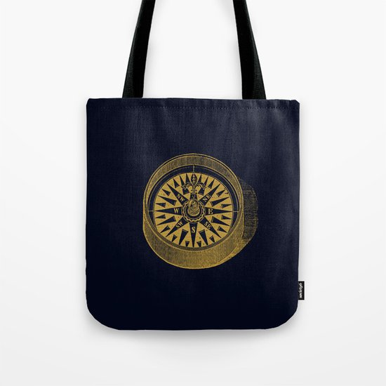 The golden compass I- maritime print with gold ornament Tote Bag