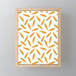 CARROT CARROTS VEGGIE FOOD PATTERN Framed Mini Art Print