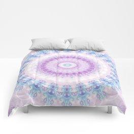Pastel Purple and Blue Mandala Comforters